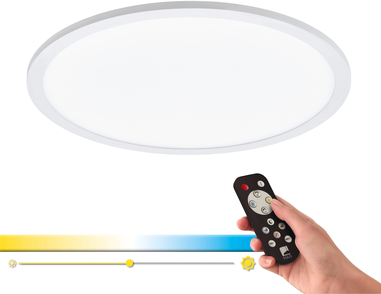 EGLO Deckenleuchte SARSINA-A, LED-Board, Extra-Warmweiß-Kaltweiß-Neutralweiß-Tageslichtweiß-Warmweiß, Steuerung über Fernbedienung, Nachtlicht