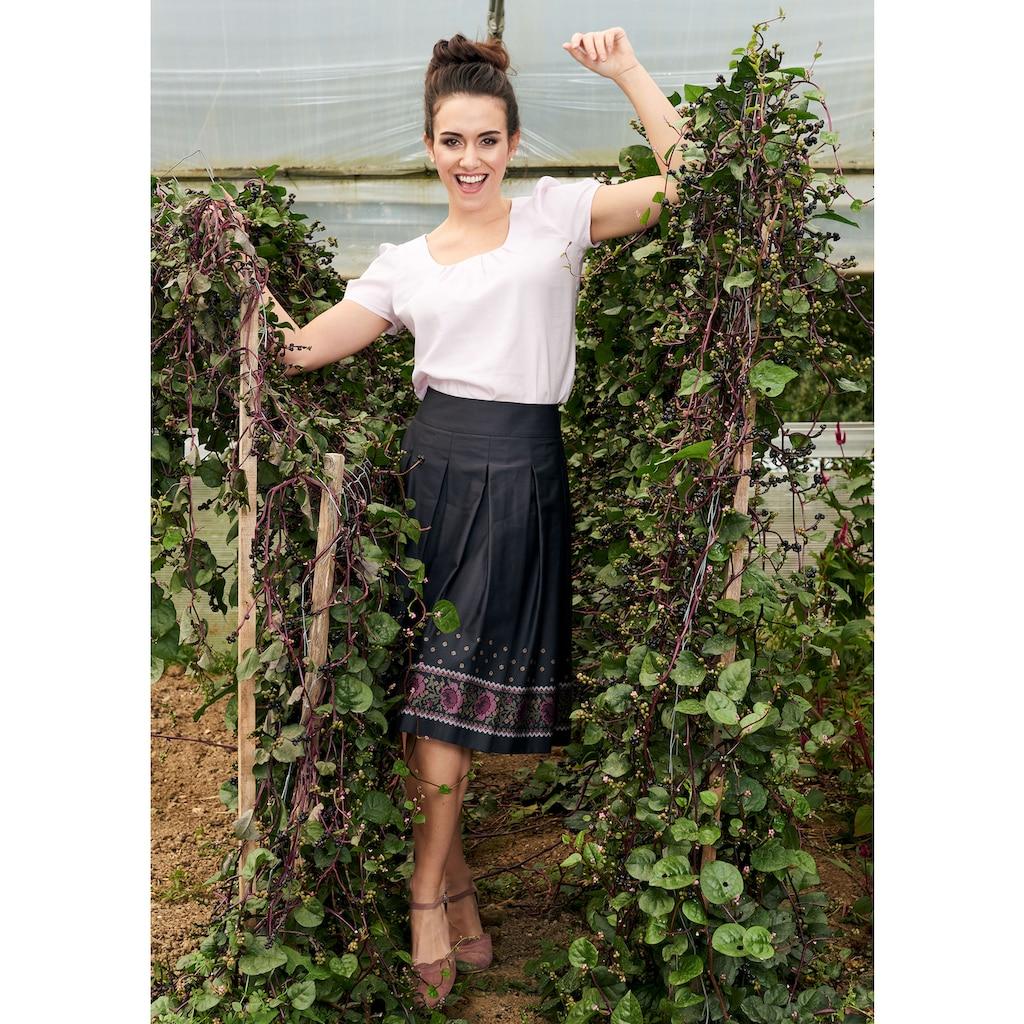 Love Nature Trachtenbluse, luftig-leicht mit gelegten Falten - Made in Austria