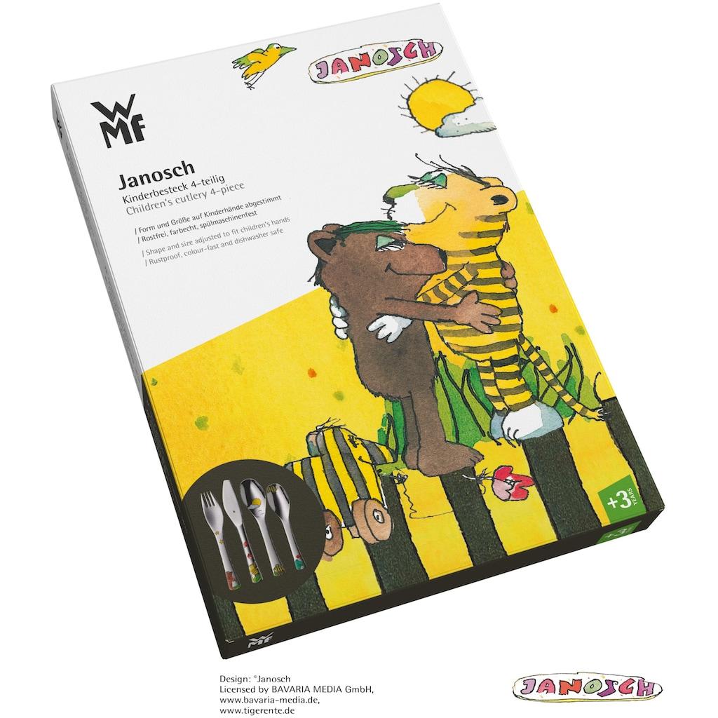 WMF Kinderbesteck »Janosch«, (Set, 4 tlg.), Kindermesser mit leichtem Wellenschliff