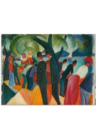 Artland Glasbild »Spaziergang auf der Brücke. 1913«, Gruppen & Familien, (1 St.) kaufen