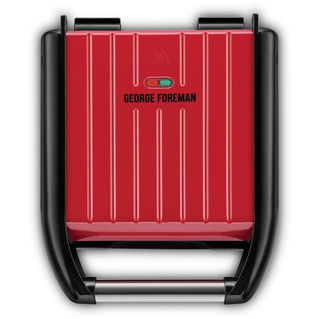 George Foreman Kontaktgrill »Steel Compact Fitnessgrill rot 25030-56«, 12000 W