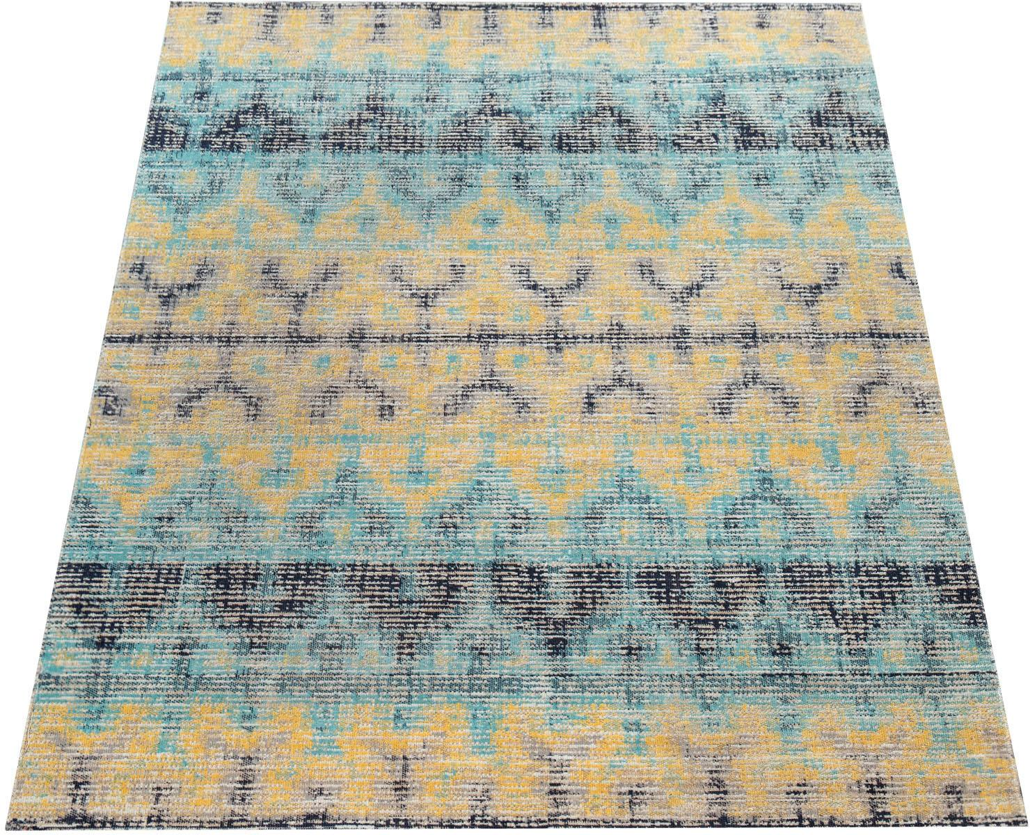 Paco Home Teppich Artigo 417, rechteckig, 4 mm Höhe, Vintage Design, In- un günstig online kaufen