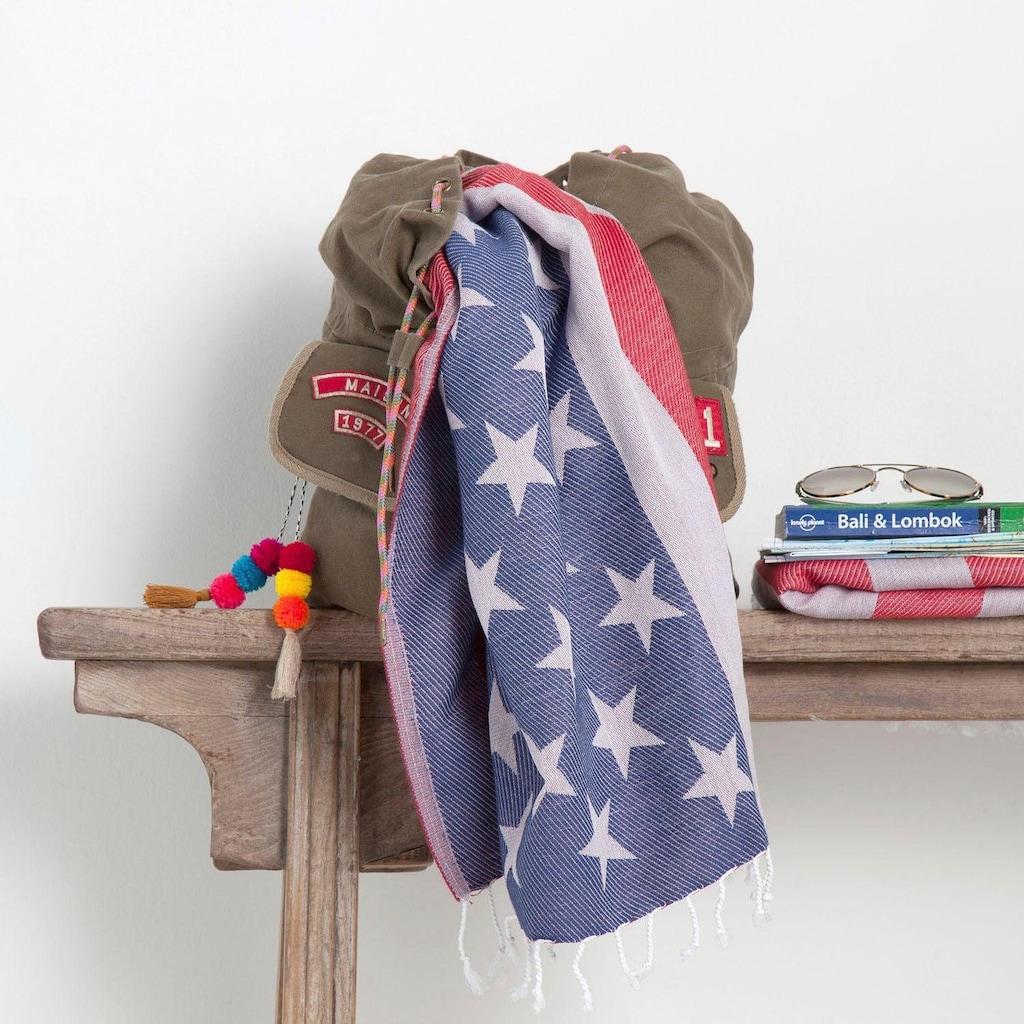 Seahorse Hamamtuch »USA«, (1 St.), mit amerikanischer Flagge