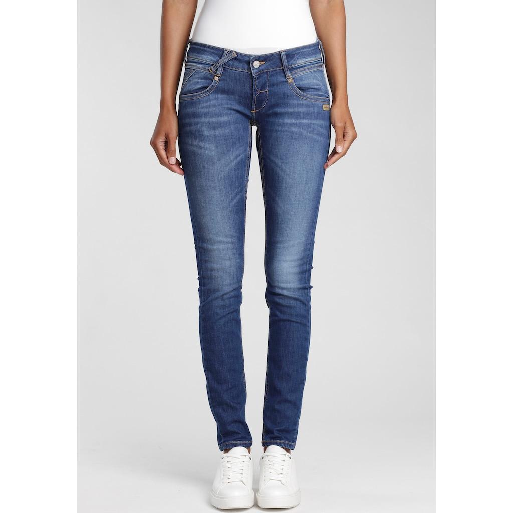 GANG Skinny-fit-Jeans »Nena«, mit coolen Used-Effekten