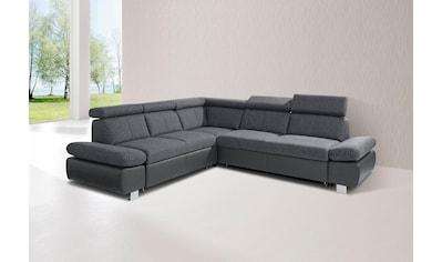 exxpo - sofa fashion Ecksofa, inklusive Kopf- bzw. Rückenverstellung und... kaufen