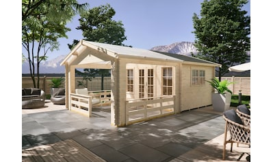 SKANHOLZ Gartenhaus »Holmestrand«, BxT: 420x650 cm, inkl. Vordach mit Brüstung und Fußboden kaufen
