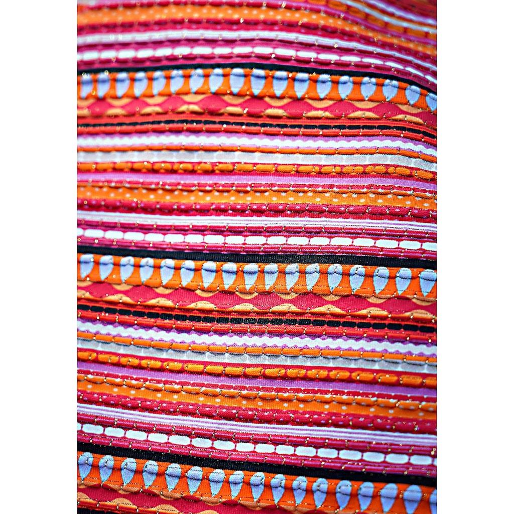 LASCANA Bügel-Bandeau-Bikini, mit glitzernden Streifen
