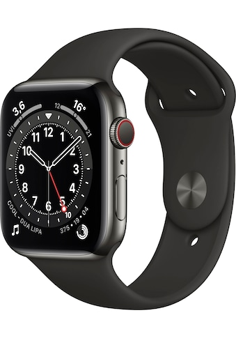 Apple Watch »Series 6 GPS + Cellular, Aluminiumgehäuse mit Sportarmband 44mm« (, Watch OS, inkl. Ladestation (magnetisches Ladekabel) kaufen