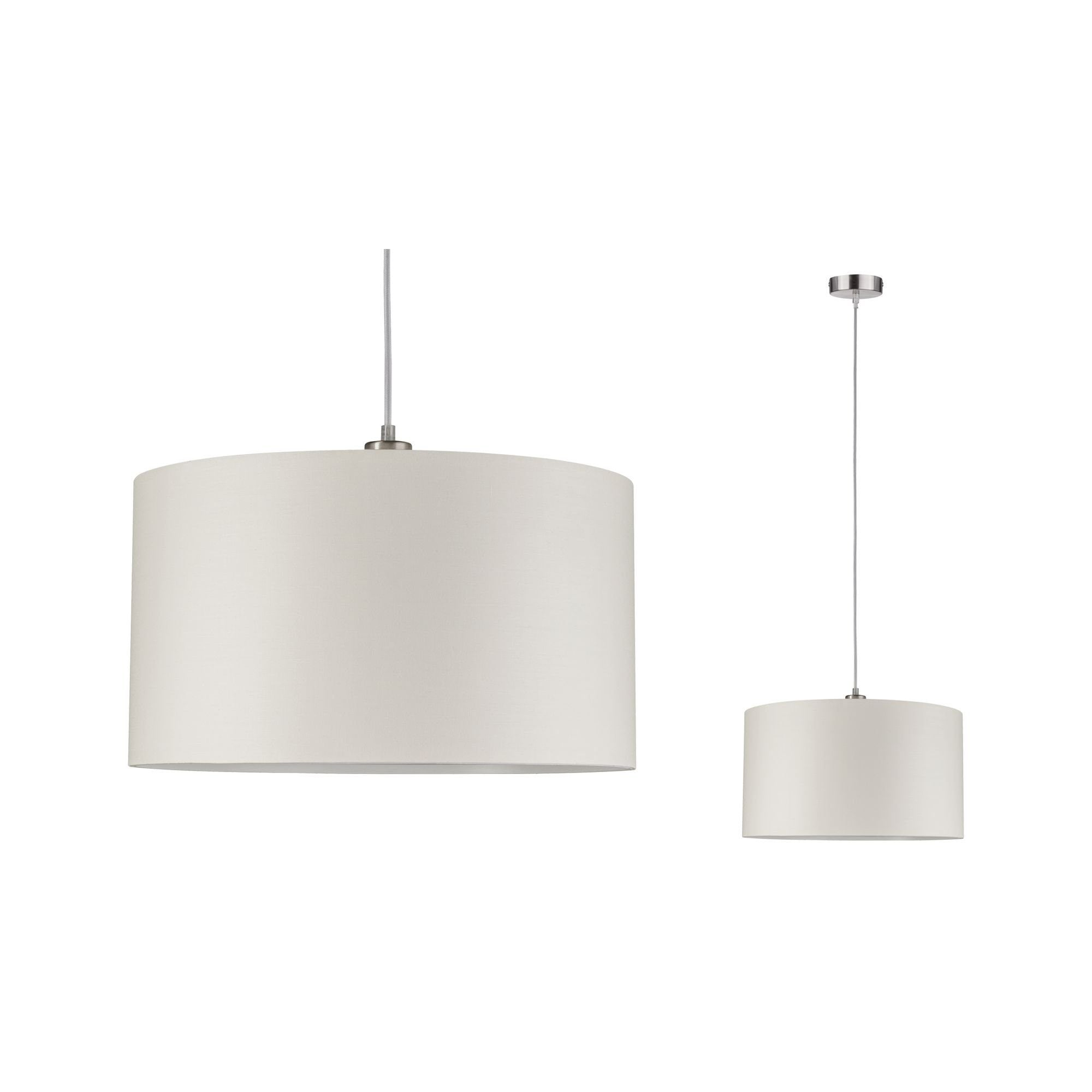 Paulmann LED Pendelleuchte Tessa Creme/Eisen gebürstet max. 60W E27, E27, 1 St.