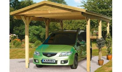 Karibu Einzelcarport »Classic 1«, Holz, 250 cm, braun kaufen