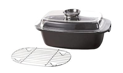 Krüger Bräter »Potsdam«, Aluminiumguss, (1 tlg.), Aromaknopf und Gittereinsatz kaufen