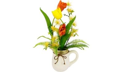 I.GE.A. Kunstblume »Arrangement Tulpen«, Krug aus Keramik kaufen