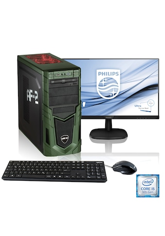 "Hyrican Gaming PC i5 - 9400F, GTX 1660 Ti, 16GB RAM + 61cm (24"") TFT »Military SET1857« kaufen"