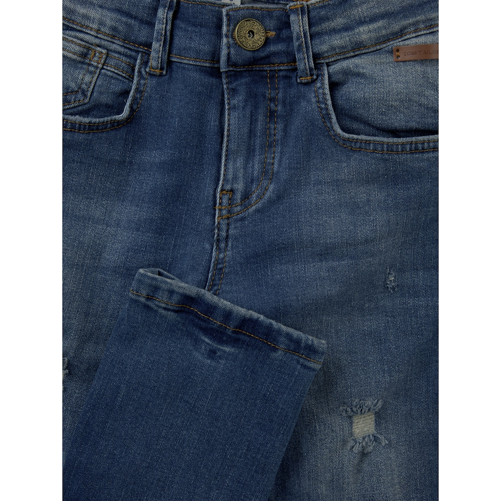 TOM TAILOR Straight-Jeans »Tom Jeans mit Riss-Details«