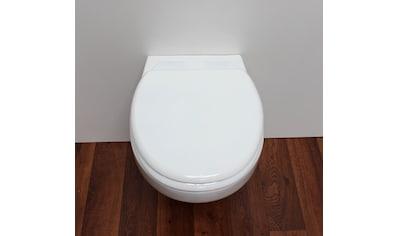 ADOB WC-Sitz »Milano«, mit Rückbrett, universal passend kaufen