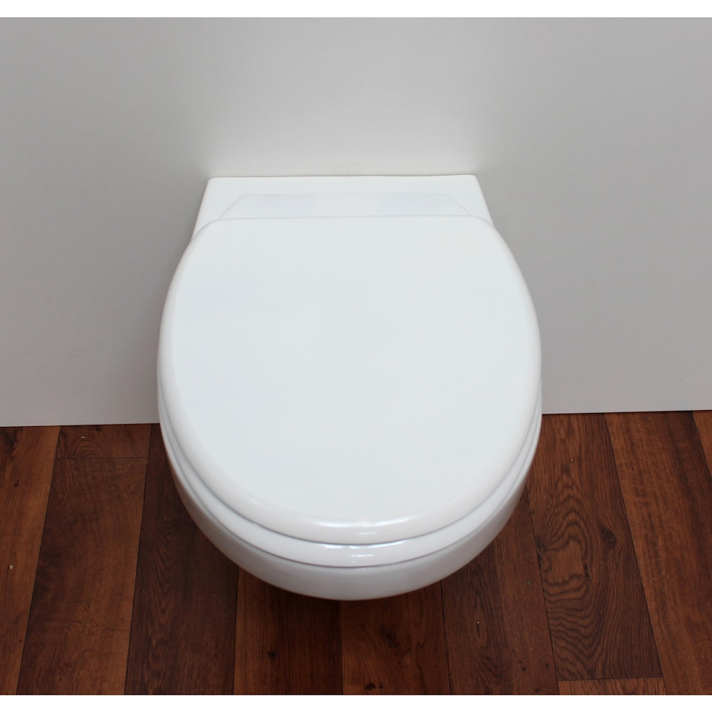 ADOB WC-Sitz »Milano«, mit Rückbrett, universal passend