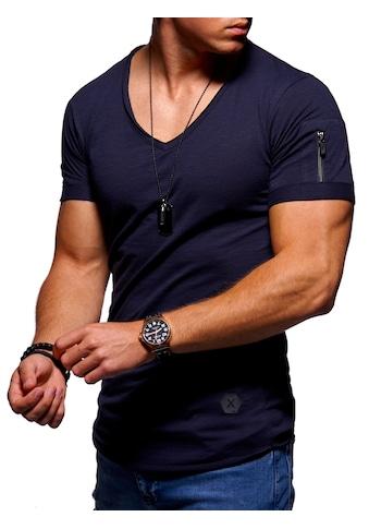 behype T-Shirt »KANE«, mit modernem V-Ausschnitt kaufen