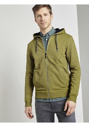 TOM TAILOR Kapuzensweatshirt »Strukturierte Sweatjacke« kaufen