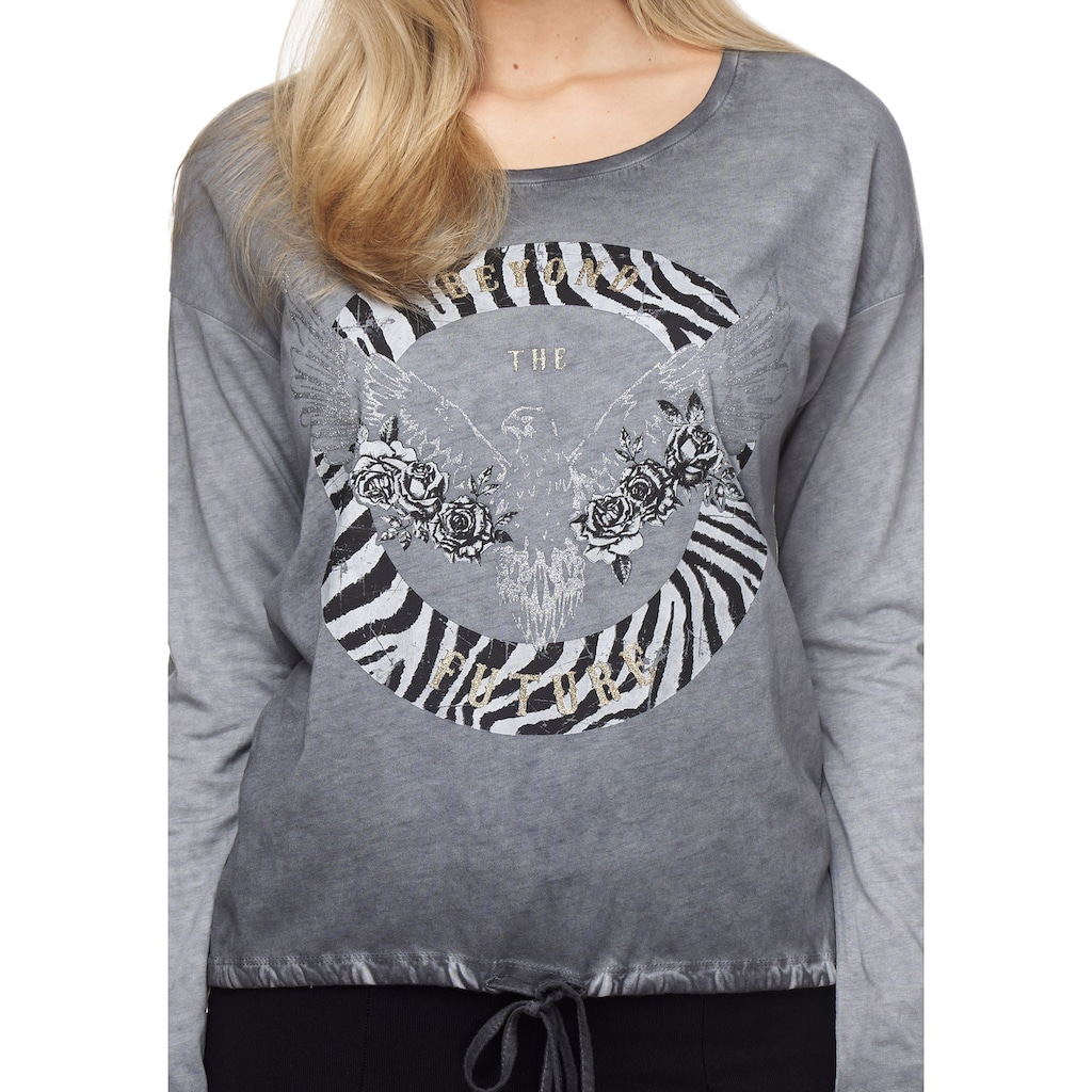 Decay Langarmshirt, mit tollem Animalprint