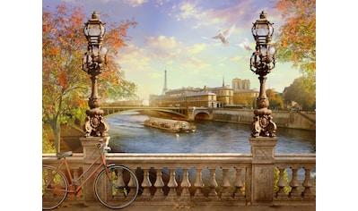 Papermoon Fototapete »Panorama von Paris«, Vliestapete, hochwertiger Digitaldruck kaufen