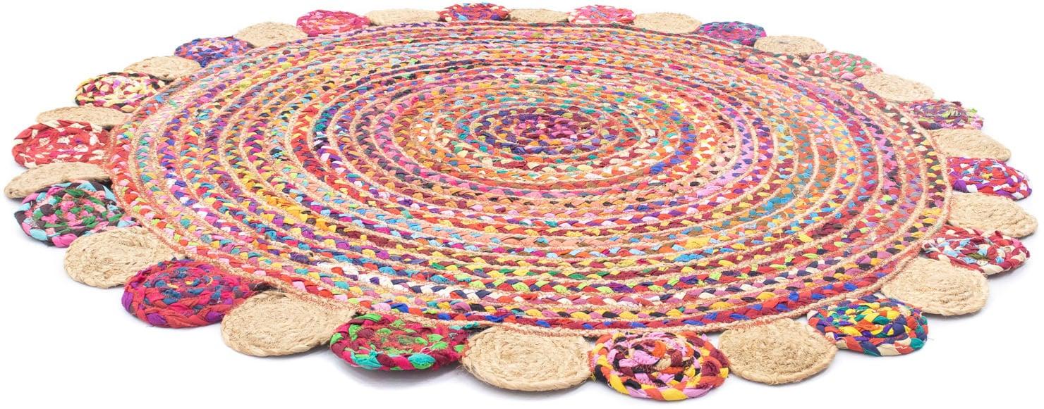 morgenland Teppich Sisalteppich Lerina, rund, 6 mm Höhe bunt Esszimmerteppiche Teppiche nach Räumen