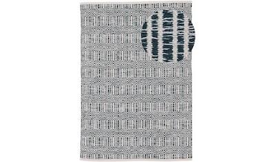 carpetfine Teppich »Kelim Oregan«, rechteckig, 5 mm Höhe, Wendeteppich aus reiner... kaufen