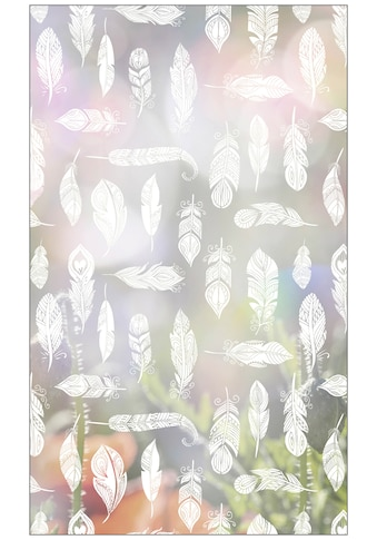 MySpotti Fensterfolie »Look Feathers white«, halbtransparent, glattstatisch haftend,... kaufen