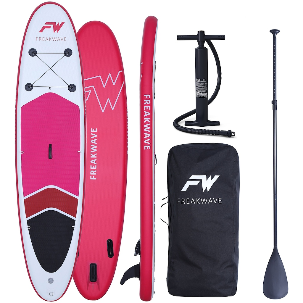 FREAKWAVE Inflatable SUP-Board »CORAL«, (4 tlg., mit Paddel, Pumpe und Transportrucksack)