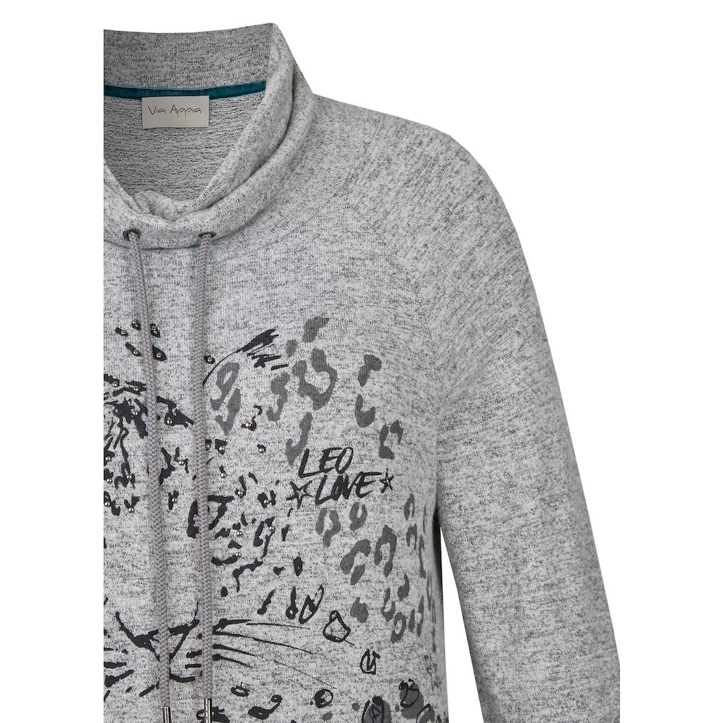"""VIA APPIA Lässiger Pullover """"Crème de la crème"""" Plus Size"""