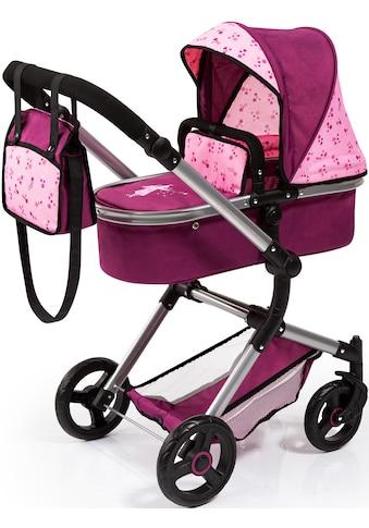 Bayer Kombi-Puppenwagen »Vario, bordeaux«, mit Wickeltasche kaufen
