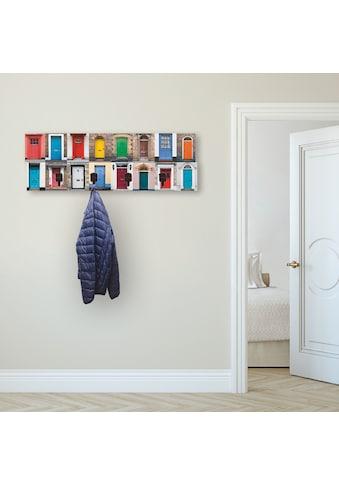 Artland Garderobenpaneel »Fotocollage von 32 bunten Haustüren«, platzsparende... kaufen