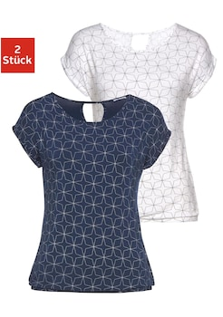 124 36 bis 42 Vivance Shirt Bluse Kurzarmshirt Kurzarm Damen Gr Neu