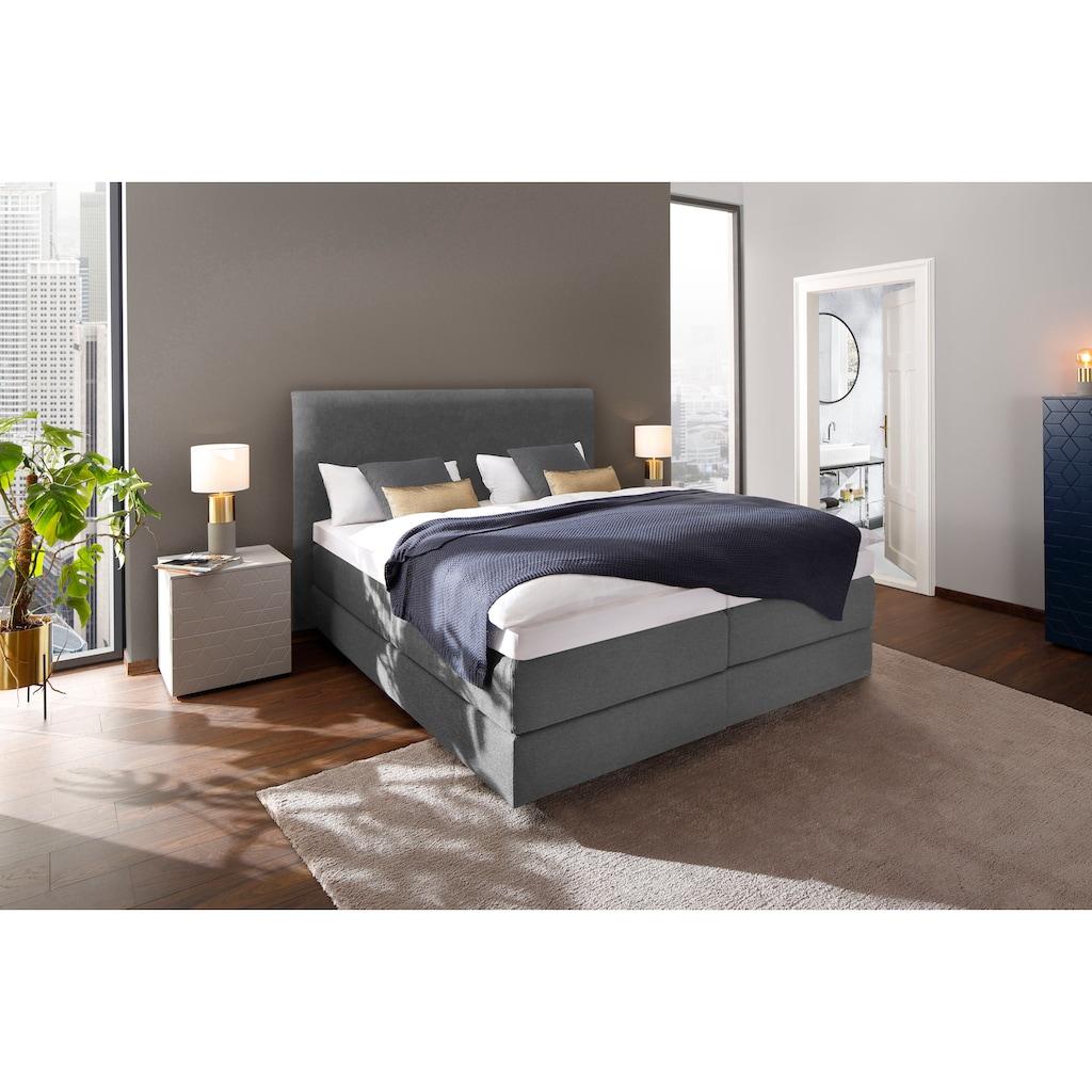 Villeroy & Boch Boxspringbett »LAILA«, Doppelbett mit Kopfteil Curve Slim Höhe 130 cm, von TFK 500 bis zu TFK 7000
