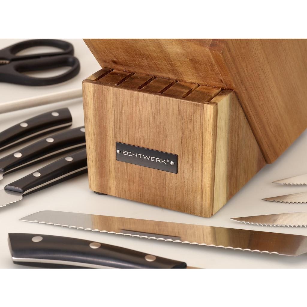 ECHTWERK Messerblock »Premium«, 15 tlg., aus Akazienholz