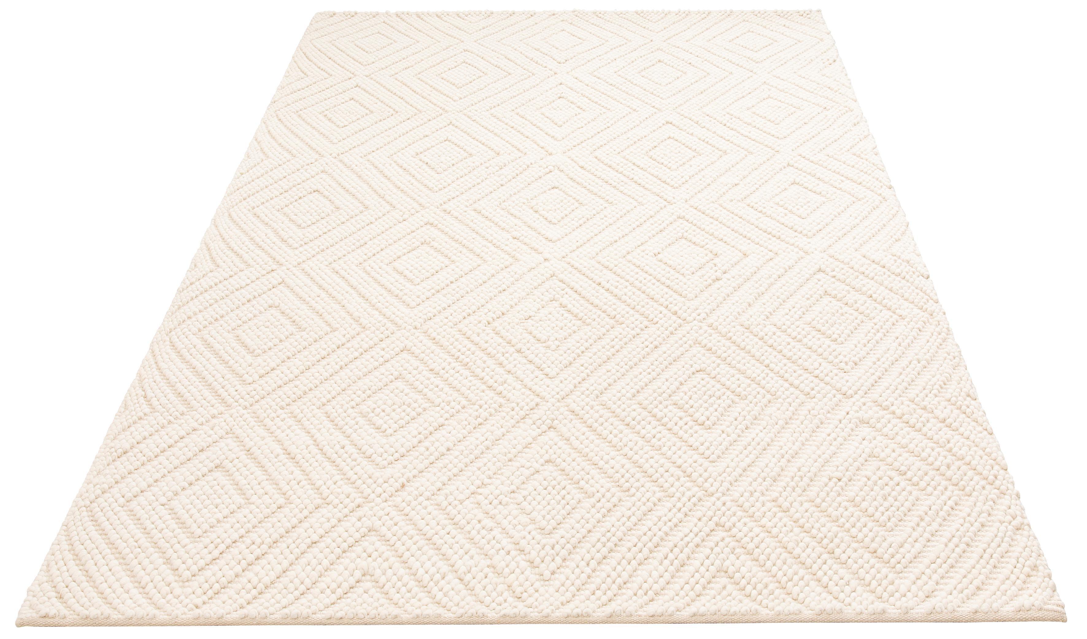 Teppich elbflunder elbgestoeber rechteckig Höhe 8 mm handgewebt