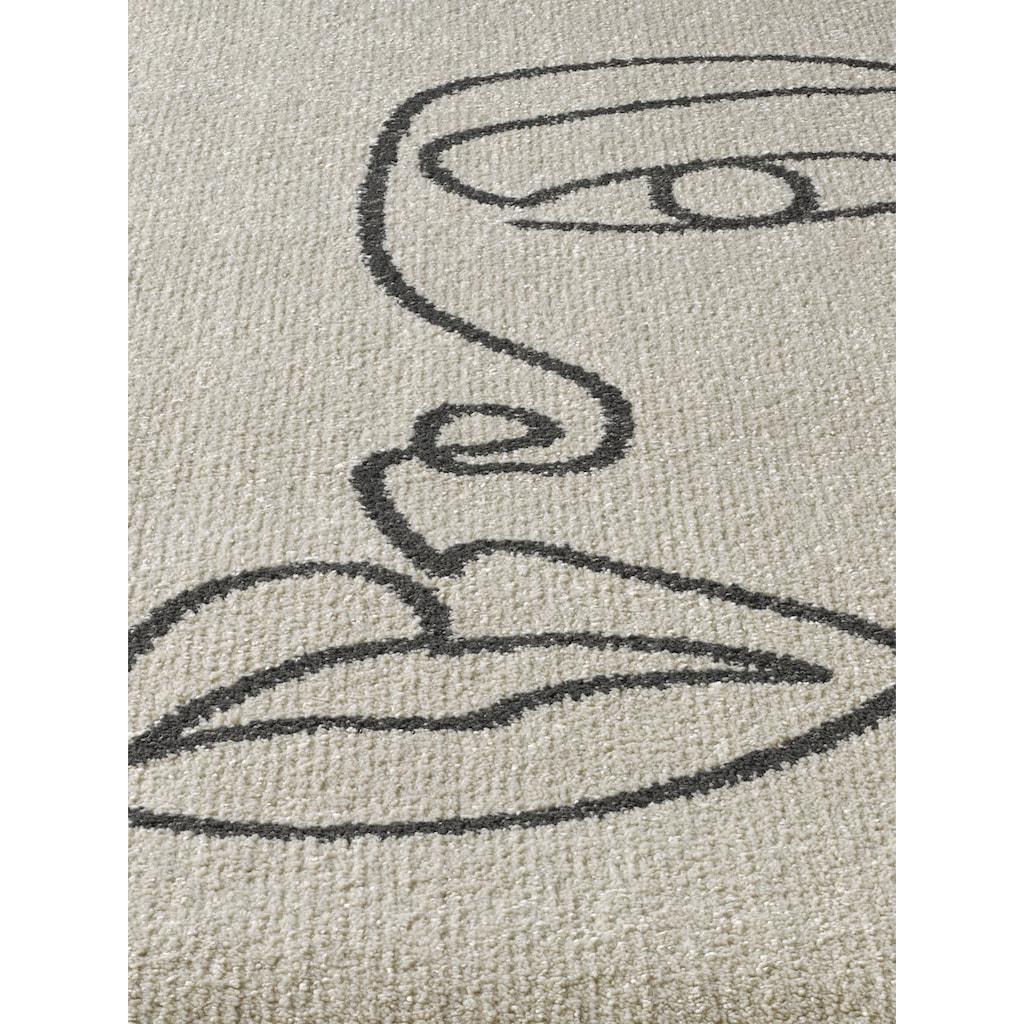 Teppich Faces mit Gesichter- Motiv