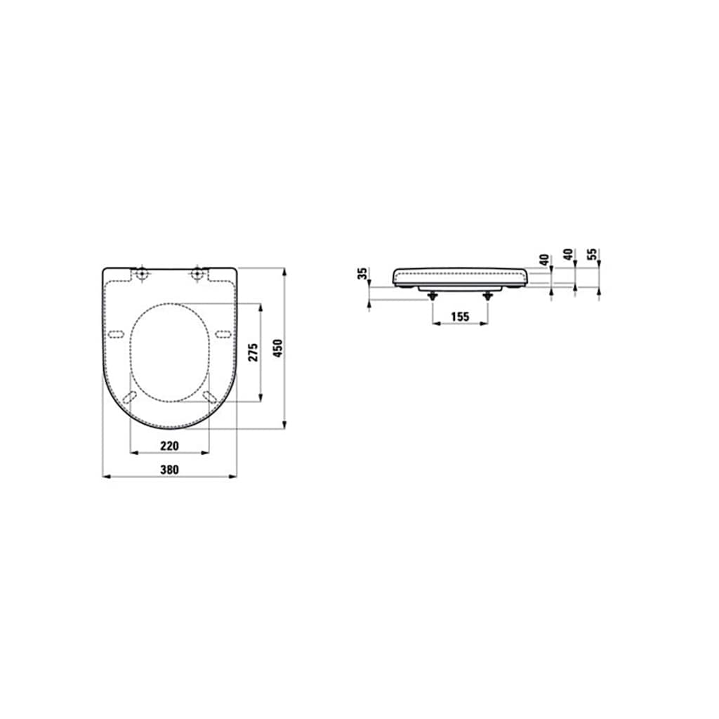 Laufen WC-Sitz »Laufen Pro«, modernes Design, belastbar bis maximal 150 Kg