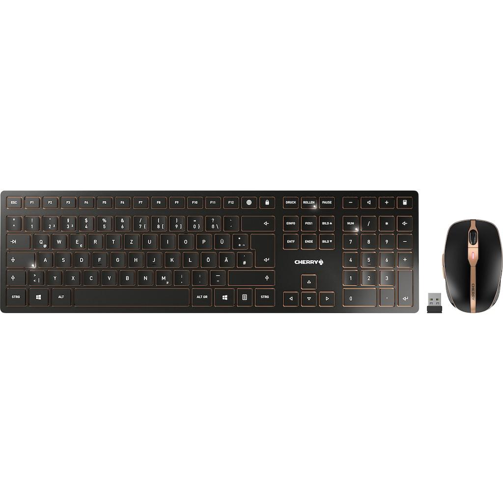 Cherry Tastatur- und Maus-Set »DW 9000 SLIM«