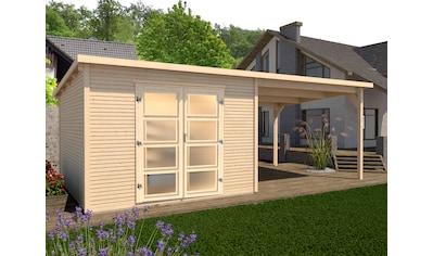 WEKA Set: Gartenhaus »wekaLine 2«, BxT: 620x277 cm, mit Anbaudach kaufen