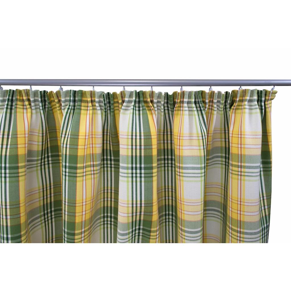 VHG Vorhang nach Maß »Lene«, Leinenoptik, Karo, skandinavisch, Breite 150 cm