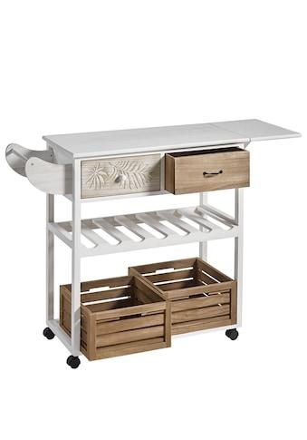 Küchenwagen weiß gewischt kaufen