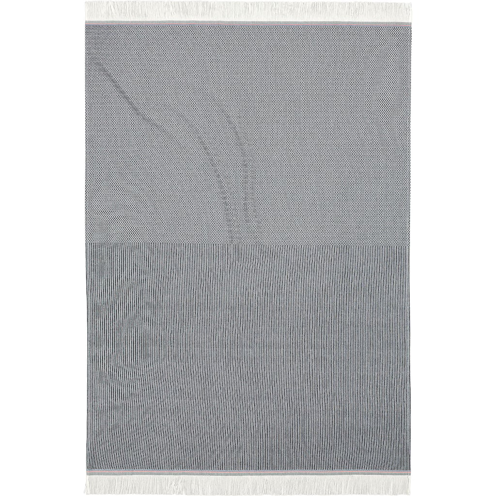 BIEDERLACK Plaid »Lines«, hochwertige Franse