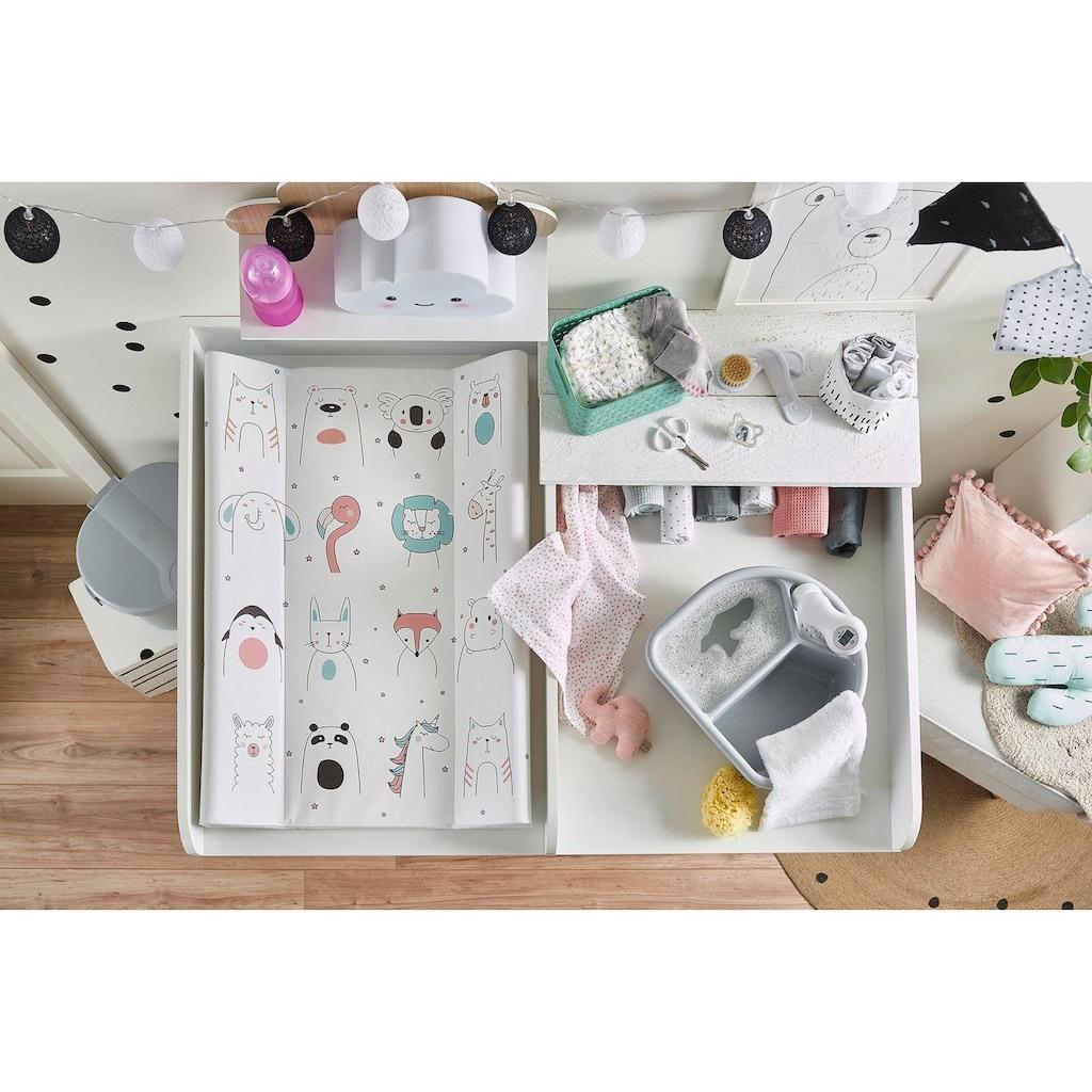 Rotho Babydesign Wickelauflage »Happy Faces«, Keilform; Made in Europe