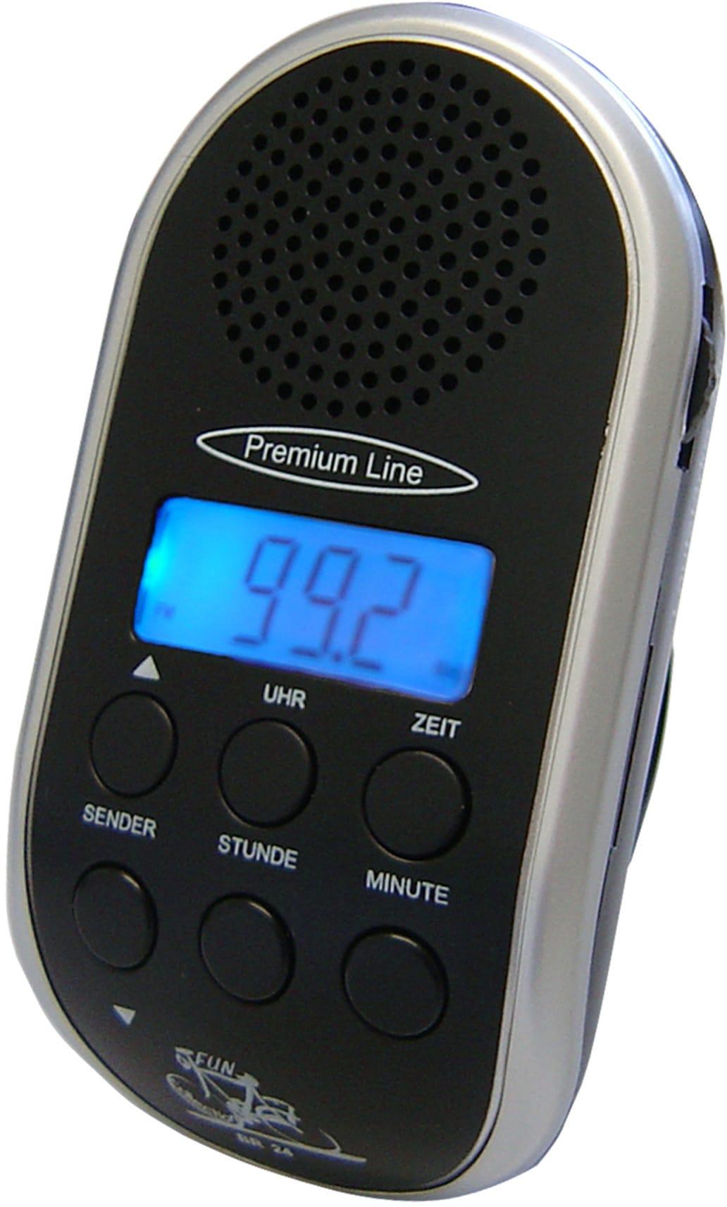 Security Plus Fahrrad-Radio, grau
