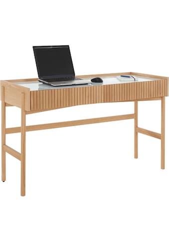 andas Schreibtisch »Jytte«, Design by Morten Georgsen, mit massiven Holzstreben in der... kaufen