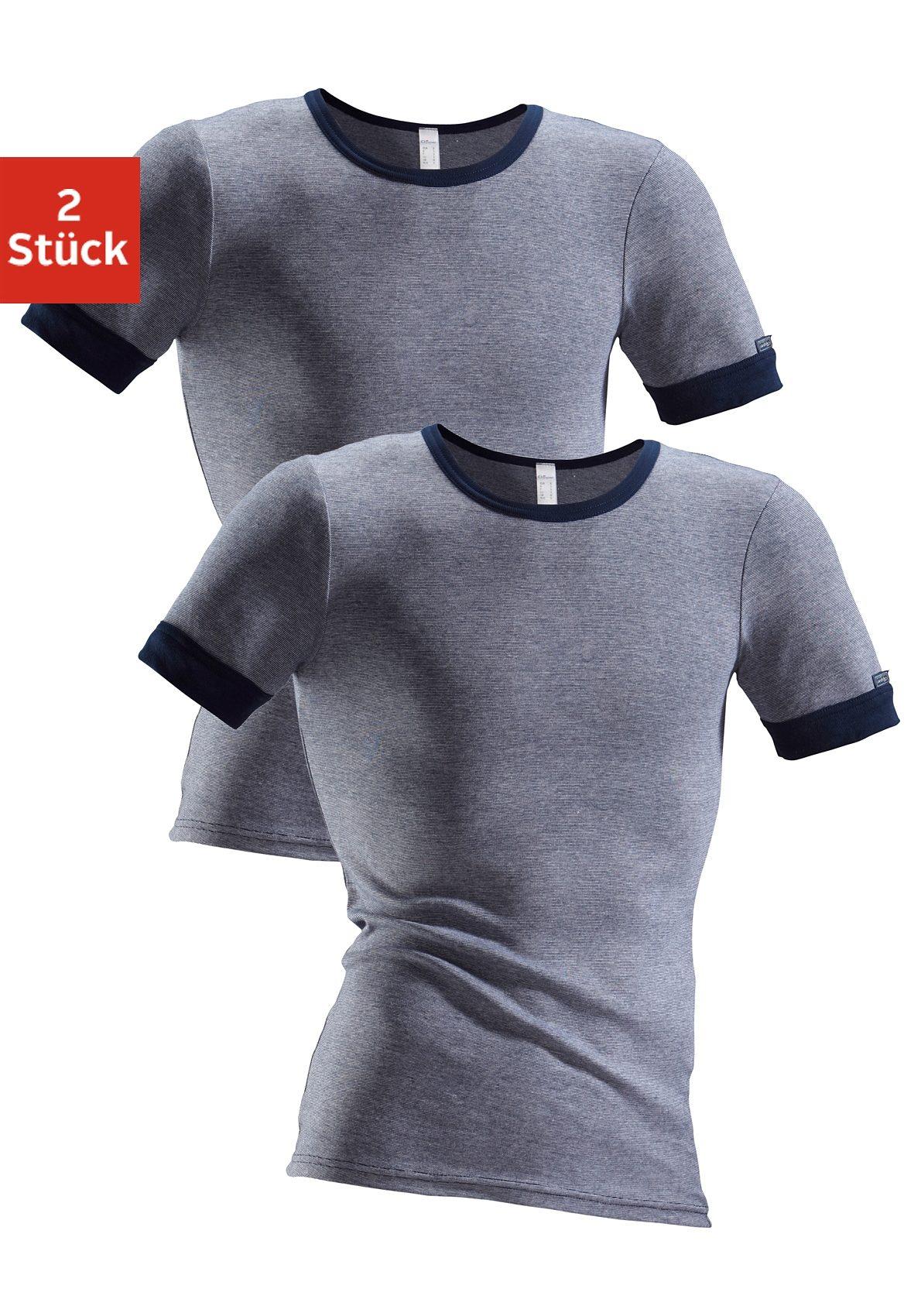 clipper exclusive -  Unterhemd (2 Stück) modische Optik: Jeans meliert tolle Baumwoll-Qualität
