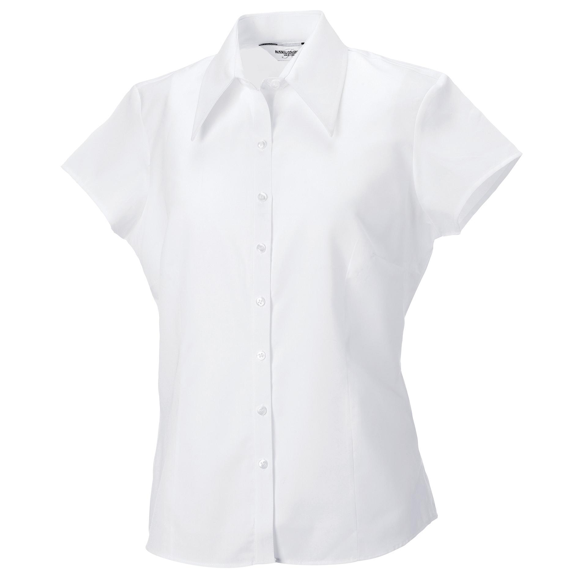 Russell Kurzarmbluse Collection Damen Bluse Kurzarm´ tailliert