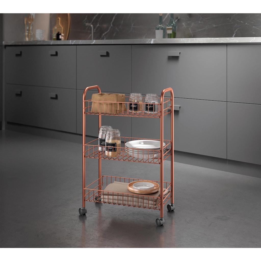 Metaltex Rollwagen »Lugano«, mit kupferfarbener Beschichtung