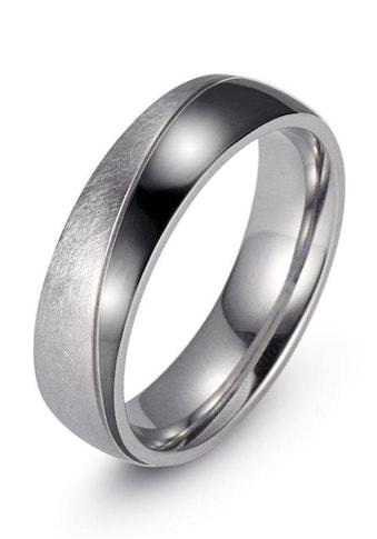 Firetti Trauring »7,0 mm, mit Vertiefung, teilweise IP - beschichtet, schwarz, glänzend, gekratzt, strukturiert« kaufen