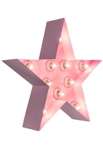 MARQUEE LIGHTS LED Dekolicht »Stern«, E14, 1 St., Warmweiß, Wandlampe, Tischlampe Star mit 10 festverbauten LEDs - 38cm Breit und 38cm hoch kaufen